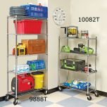 4-Tier Commercial Shelving System