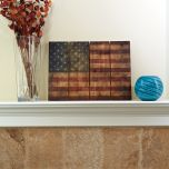 "Wooden American Flag Wall Art (33"" x 24"")"