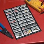 Auto Mechanic's Magnetic Toolbox Labels