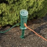 Outdoor Three Outlet Yard Stake