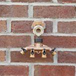 Brass Four-Hose Adapter