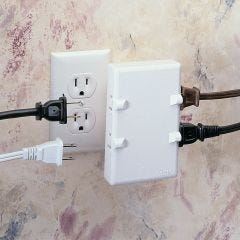 Space-Saving Outlet (2-Prong)