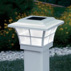 Prestige Solar Lighted Post Caps (White)