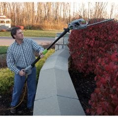 Convertible 2-in-1 Pole Hedge Trimmer