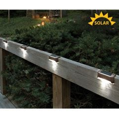 Solar LED Deck Lights (Set of 4)