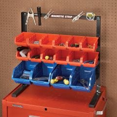 Table Top Storage Bin Rack
