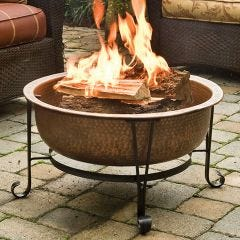 Hammered Copper Fire Pit