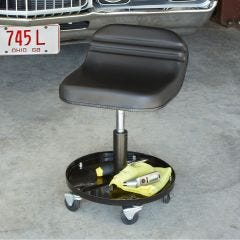 Tractor Seat Rolling Stool