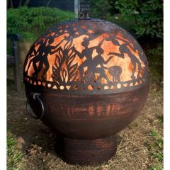 "26"" Fire Bowl with Full Moon Party Fire Dome"