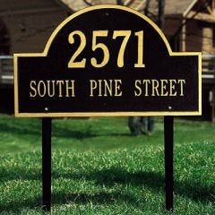 Arched Estate House Marker (Lawn)