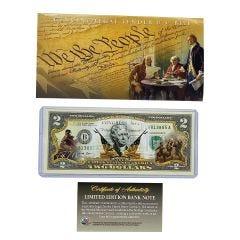 Declaration of Independence Legal Tender U.S. $2 Bill