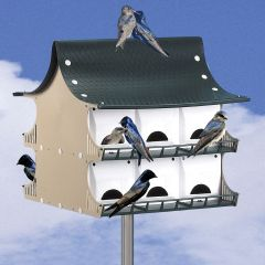 Purple Martin Birdhouse (12 room) with Pole