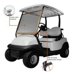 Deluxe Portable Golf Cart Windshield