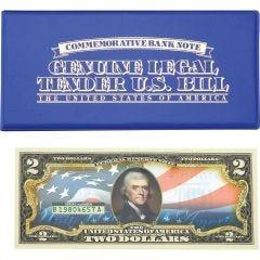 United States Flag Legal Tender U.S. $2 Bill